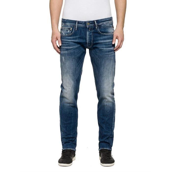 Replay RONAS Jeans Bleu (Blue Denim), 33W x 32L Homme - MA946F.000.83B 862-9