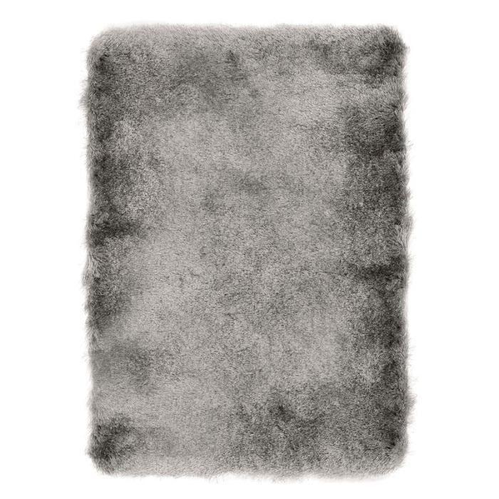 TOOSOFT - Tapis poils longs extra-doux gris 160x230