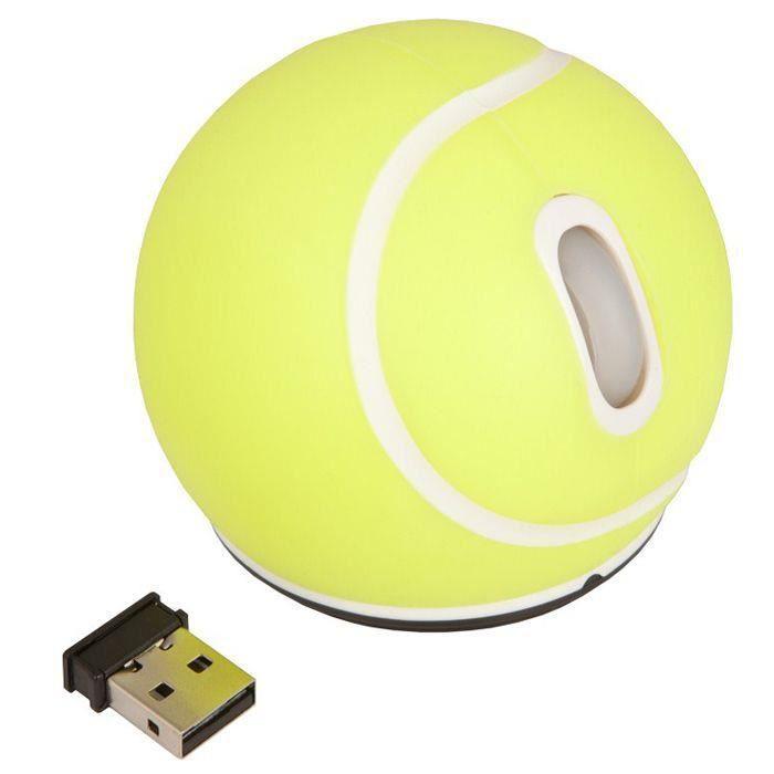URBAN FACTORY Souris Optique - Fréquence radio - USB - 2 Bouton(s) - Jaune - Sans fil - 800 dpi - Roulettes avec frein - Symétrique
