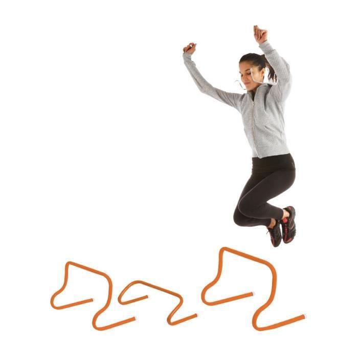 Mini haie de saut 45 cm en PVC - Largeur : 50 cm Hauteur : 45 cm