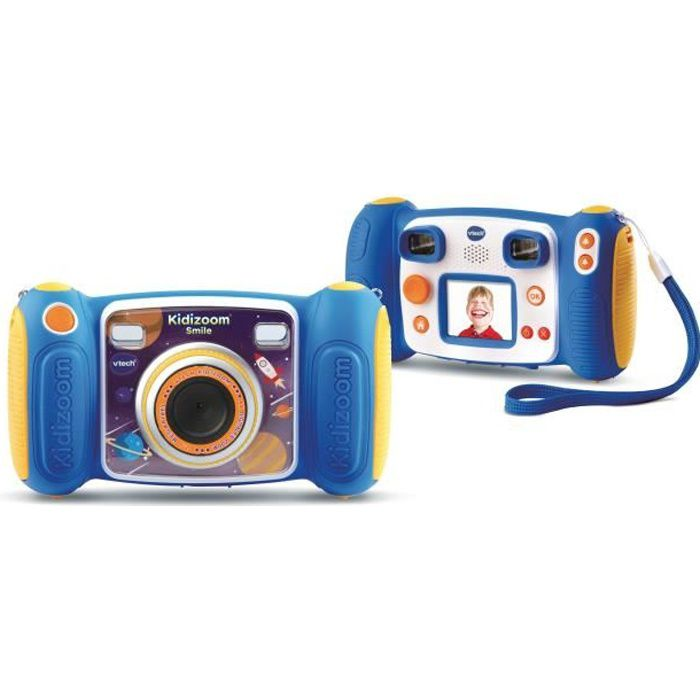 VTECH - 193635 - Kidizoom Smile Bleu - appareil photo enfant