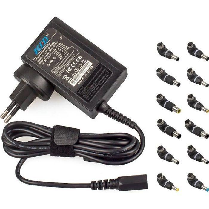 Lite-AM 65 W auto sélection Universal AC Power Adaptateur Chargeur pour ordinateurs portables
