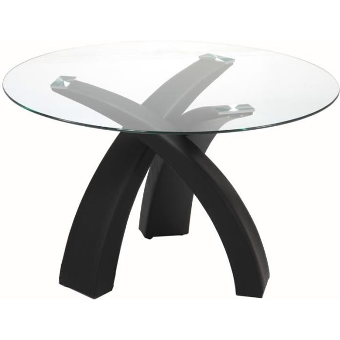 Table A Manger Ronde En Verre Wendy Achat Vente Table A Manger