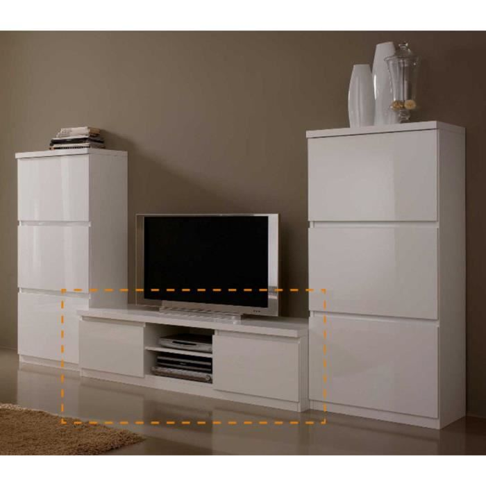 meuble tv roma laque blanc achat vente meuble tv. Black Bedroom Furniture Sets. Home Design Ideas
