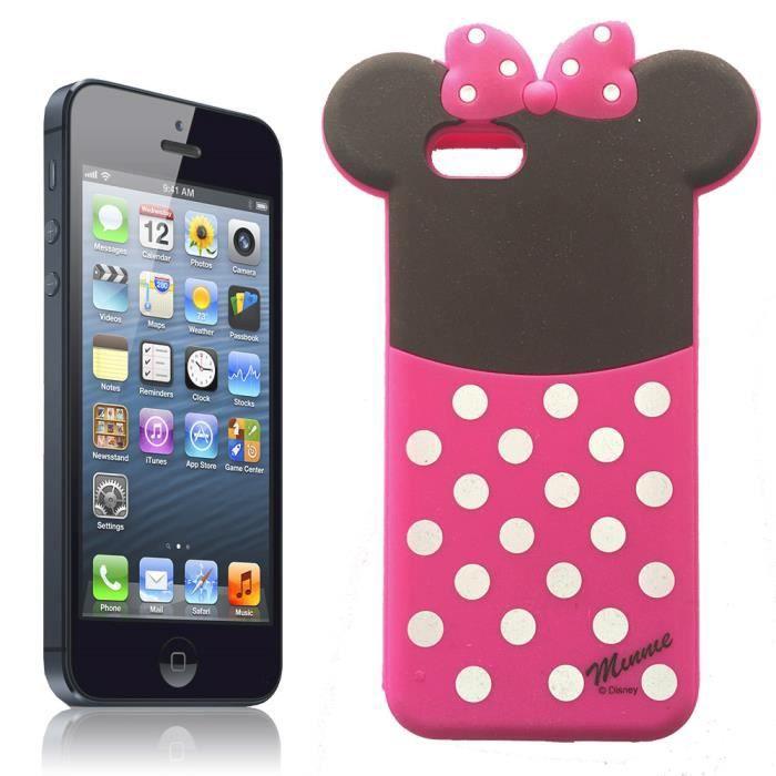 coque iphone 5c minnie en silicone souple