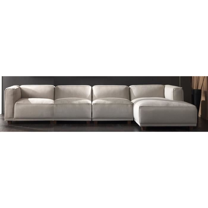 canap d 39 angle sora beige achat vente canap sofa divan soldes d s le 27 juin. Black Bedroom Furniture Sets. Home Design Ideas