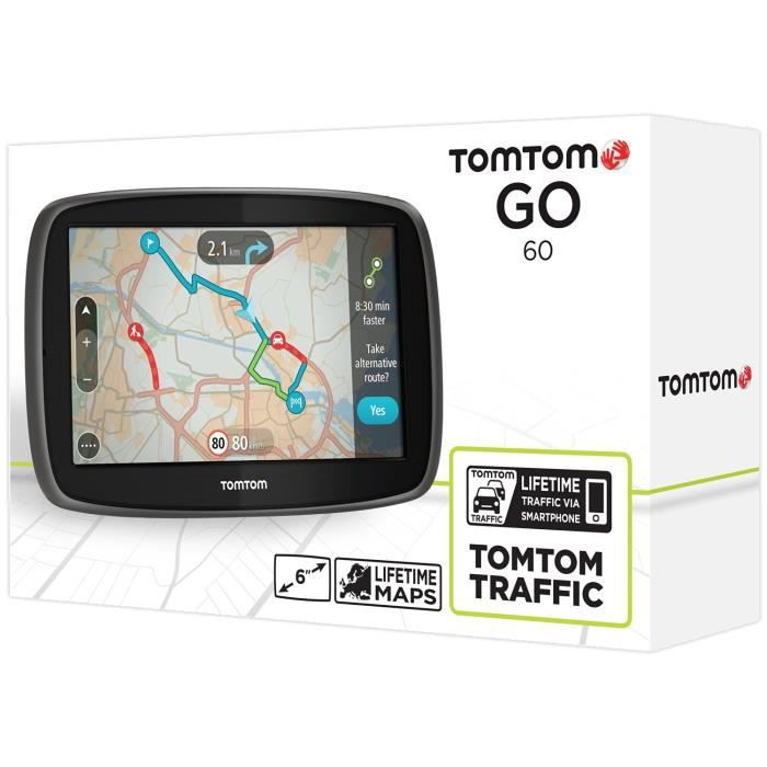 tomtom go 60 6 pouces europe 45 cartographie et trafic vie achat vente gps auto tomtom. Black Bedroom Furniture Sets. Home Design Ideas