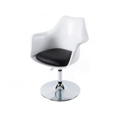 fauteuil tulipe blanc noir achat vente chaise polypropylene cdiscount. Black Bedroom Furniture Sets. Home Design Ideas