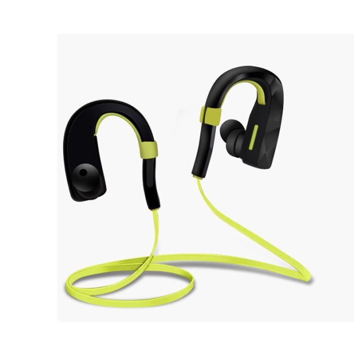 sport ear casque st r o bluetooth vert casque. Black Bedroom Furniture Sets. Home Design Ideas