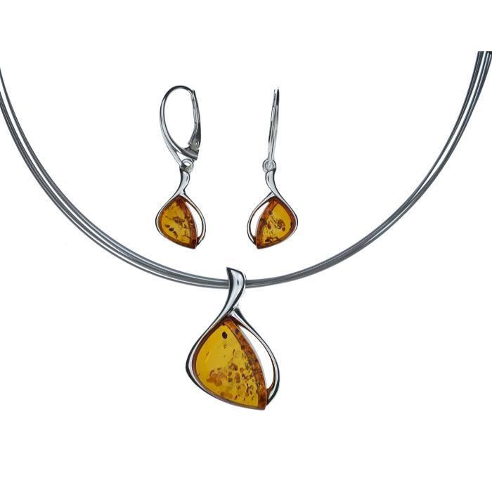 Bijoux en ambre Multicolore 925//000/ /Pendentif Femme/ /Argent de Arti Sana