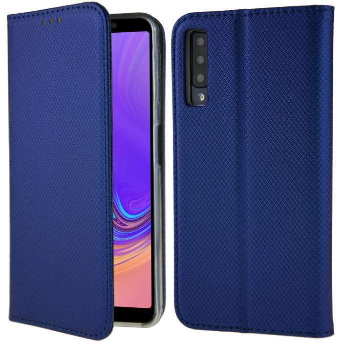 Coque Samsung Galaxy A7 2018 Housse Etui Magnétiqu