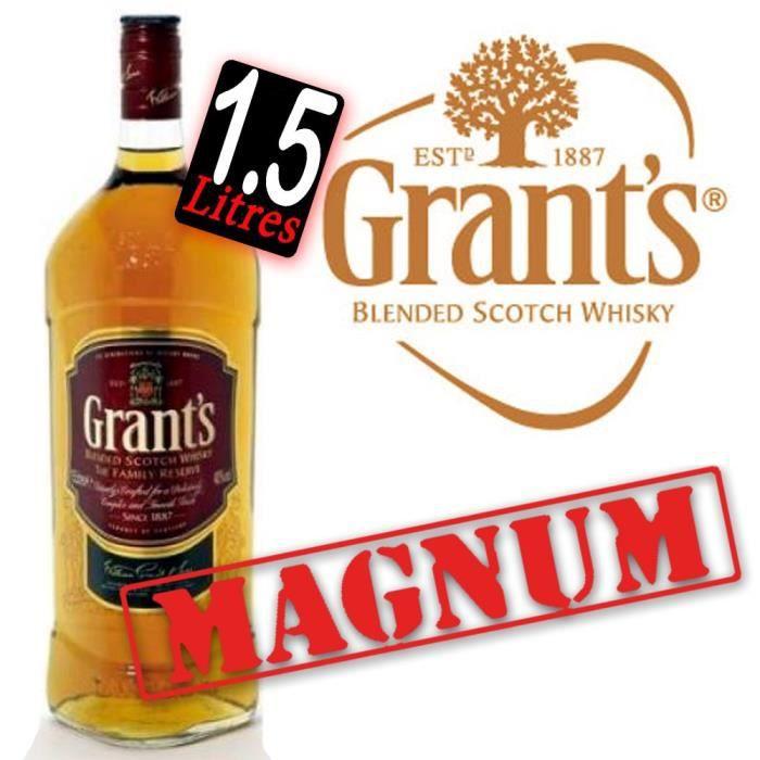 WHISKY BOURBON SCOTCH Grant's Family reserve  Magnum 1.5L