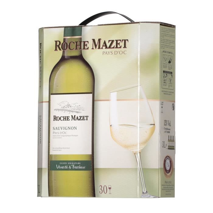 roche mazet sauvignon bib 3l achat vente vin blanc roche mazet blanc sauvi bib 3l cdiscount. Black Bedroom Furniture Sets. Home Design Ideas