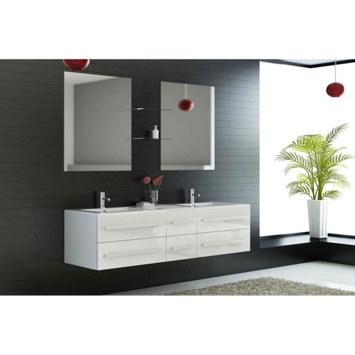 meuble salle de bain double vasque 2 miroirs achat. Black Bedroom Furniture Sets. Home Design Ideas
