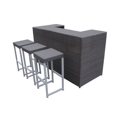 salon de jardin barahona bar 3 tabourets achat. Black Bedroom Furniture Sets. Home Design Ideas