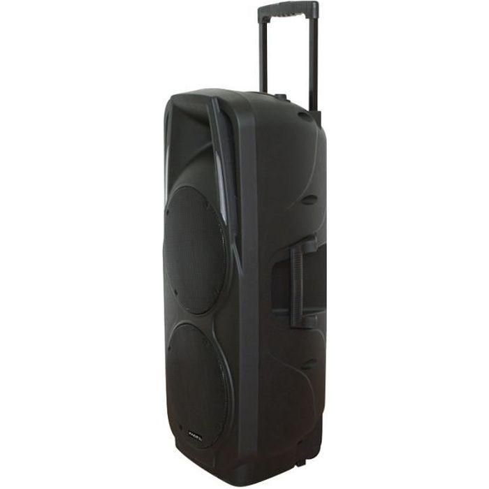 ENCEINTE ET RETOUR IBIZA PORT225VHF-BT Système sono portable 600W Blu