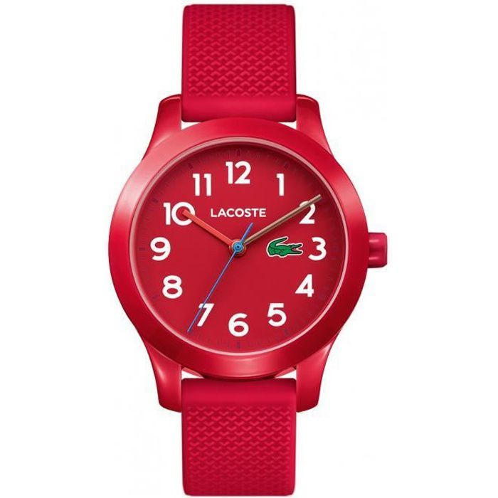 Lacoste Rouge Silicone Rouge Lacoste Montre 2030004 Montre 2030004 Silicone XZuOTPki