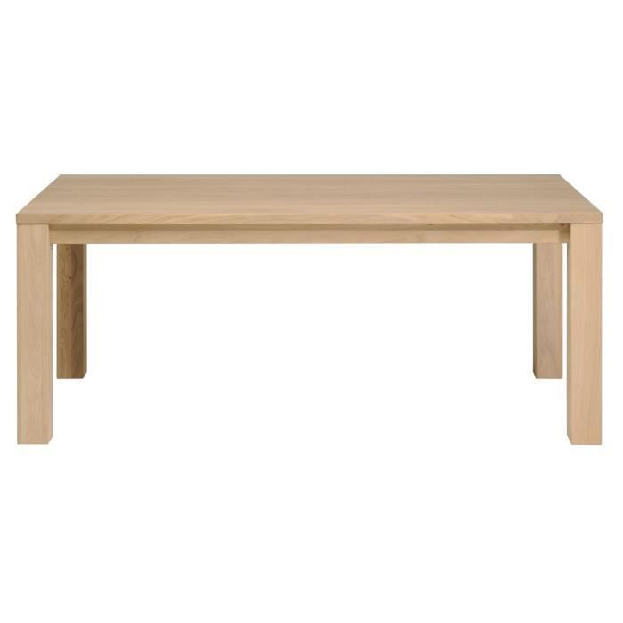 Hanna table l180 cm en ch ne massif achat vente table for Table hanna