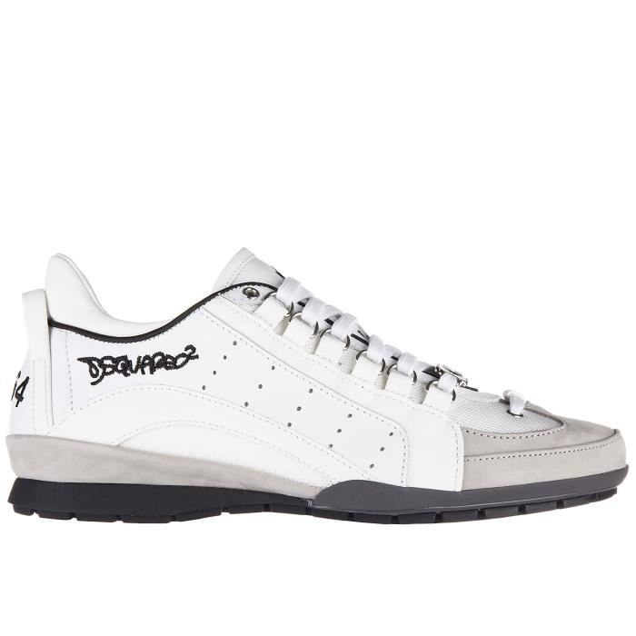 Chaussures baskets sneakers homme en cuir 551 Dsquared2