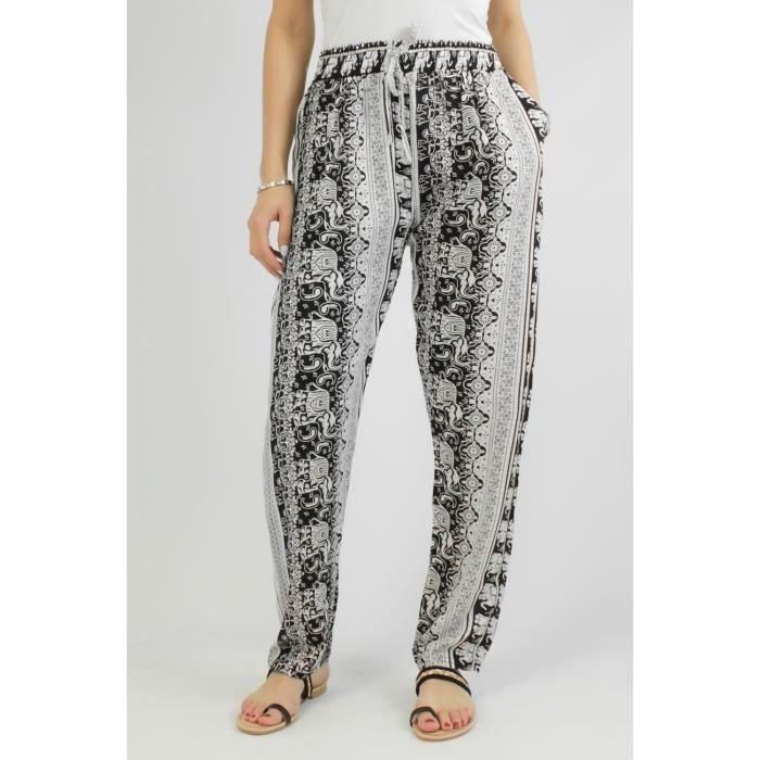 Pantalon fluide femme blanc - Achat / Vente