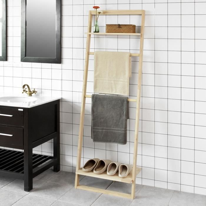 etagere echelle salle de bain etagere salle de bain pas cher with etagere echelle salle de bain. Black Bedroom Furniture Sets. Home Design Ideas