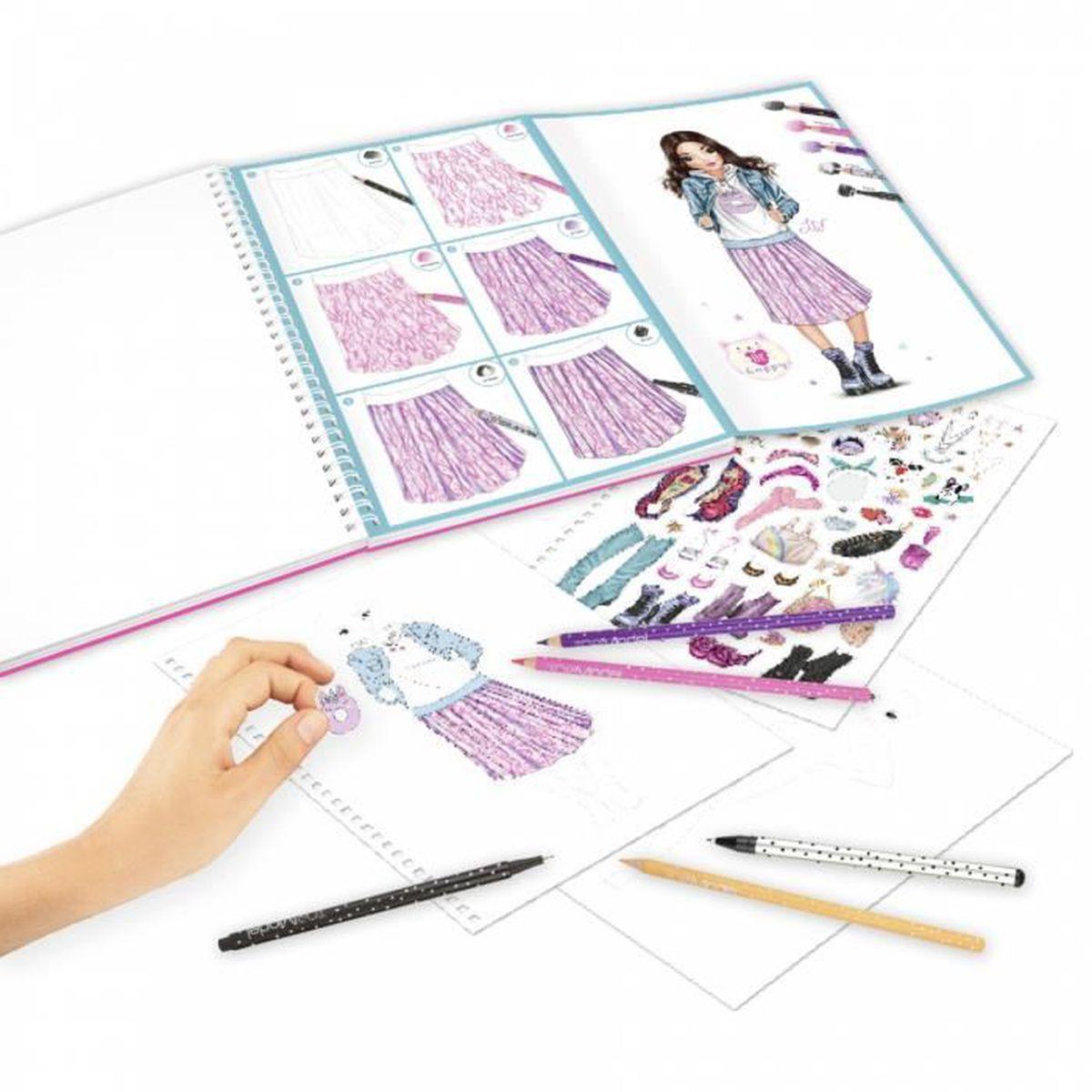 Album Coloriage Et Creation Topmodel Set Crayons Feutre Stylos Achat Vente Livre De Coloriage Cdiscount