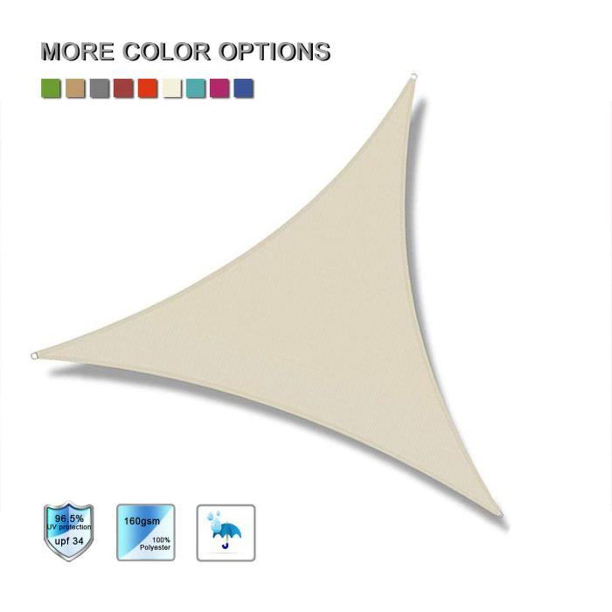 Voile D Ombrage 6 X 4 laxllent voile d'ombrage triangulaire 3.6x3.6x3.6m,toile d
