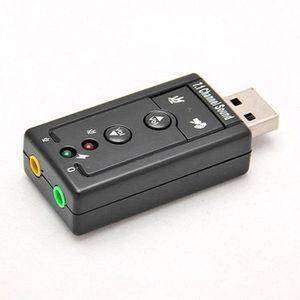CARTE SON EXTERNE mini - usb 2.0 chaîne virtuelle en 3d 480mbps adap