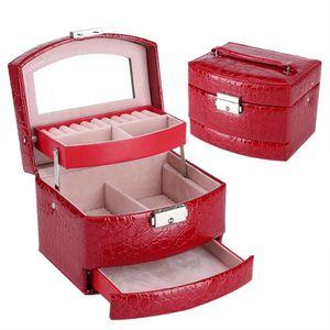BOITE A BIJOUX Boîte à bijoux portable Boîte de rangement organis