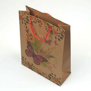cadeau pochettes sachets papier kraft rouge 41cm € 0,34//st. 5 x cadeau sachet