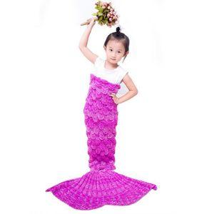 COUVERTURE - PLAID Child Mermaid couvertures couverture en tricot de