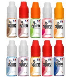 LIQUIDE E-SPIRE, Made in France. PACK DE 10 E-Liquide DE 1