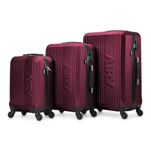 SET DE VALISES Set de 3 valises ABS trolleys Air V Lina - Bordeau