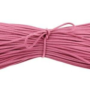 LACET  lacets ronds coton ciré couleur Rose Tulipe - 9…