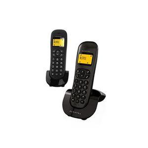 Téléphone fixe Téléphone fixe Alcatel C-250 Duo Noir -  -