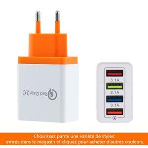 CHARGEUR TÉLÉPHONE Chargeur USB Secteur 4 Ports Universel Secteur Mur