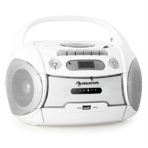 RADIO CD CASSETTE auna Boomberry - Boombox ghettoblaster portable av