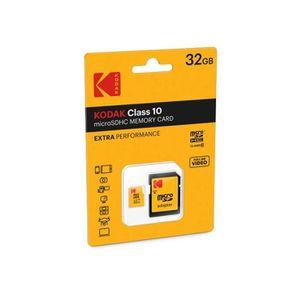 CARTE MÉMOIRE KodaK mSD 32GB Class10 Extra