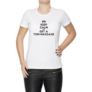 T-SHIRT Tee-shirt - Keep Calm And Get A Tom Message Femme
