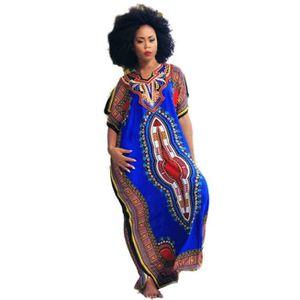 ROBE Robe Femme Africaine Imprimée Décontractée Imprimé
