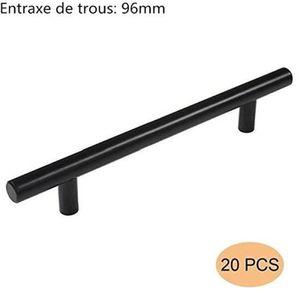 Banggo Lot de 10 poign/ées de porte en aluminium massif Noir