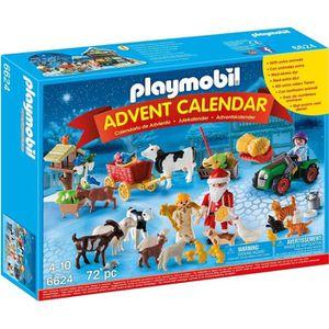 UNIVERS MINIATURE Playmobil 6624 - Calendrier De L'avent ''père Noël