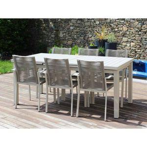 Salon de jardin CORDOBA - fauteuils cordes - Couleur - Sable ...