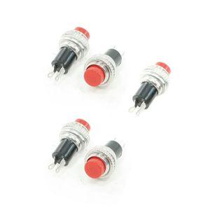 BOUTON POUSSOIR AC 3A-125V 1A-250V NO ronds rouge bouton poussoir