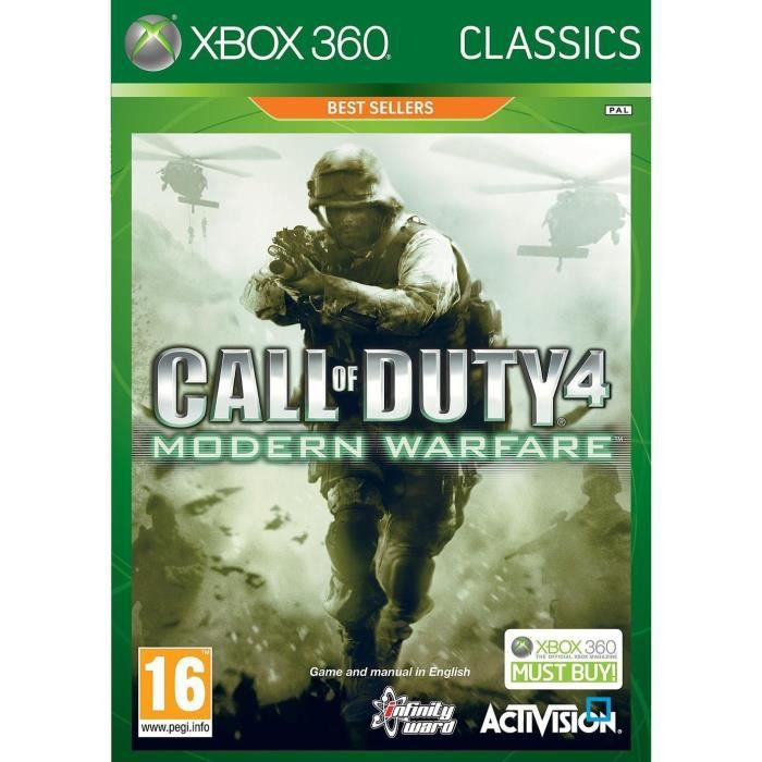 JEUX XBOX 360 Call Of Duty 4 Modern Warfare Jeu XBOX 3