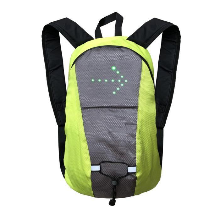 Sac de vélo étanche Sport sac à dos 15L LED clignotant lumière télécommande sac de sécurité randonnée en plein air escalade sac à do