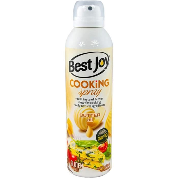 Best Joy Cooking Spray Butter Oil Paquet de 1 x 250ml Huile de Beurre Huile De Colza Huile D'Olive Extra Vierge Huile Pour Cuisson e