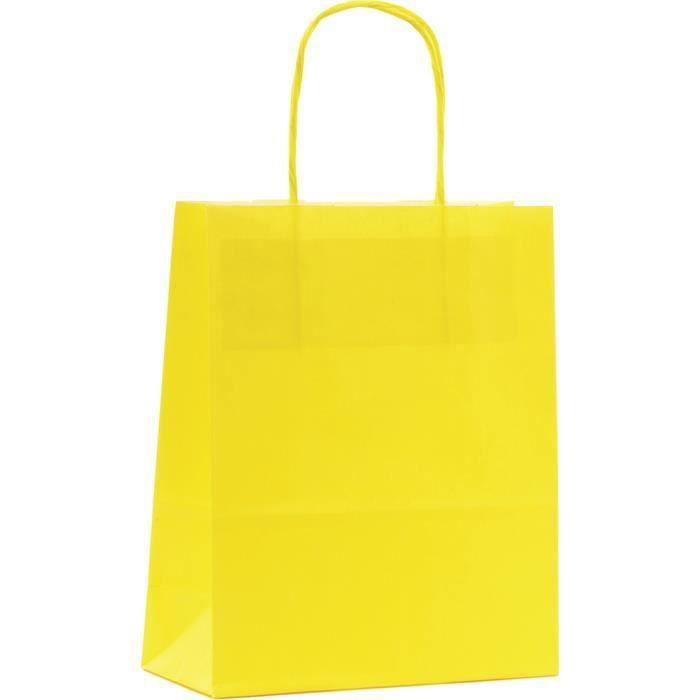 Mallard ferriåre sac cabas papier kraft jaune gm p/50