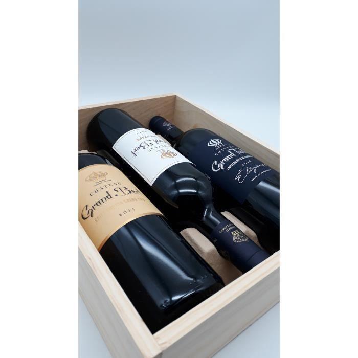 Saint Emilion Grand Cru & Castillon Côtes de Bordeaux - Coffret Découverte 3 Bouteilles