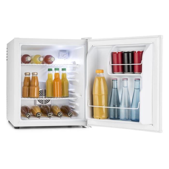 Klarstein HEA-8 Mini réfrigérateur encastrable minibar (capacité de 40L, classe énergétique A, 2 étagères, silencieux) - blanc mat